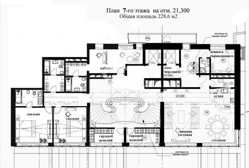 Продажа пентхауса, ЖК Резиденция Чистые Пруды, Подсосенский пер, 3