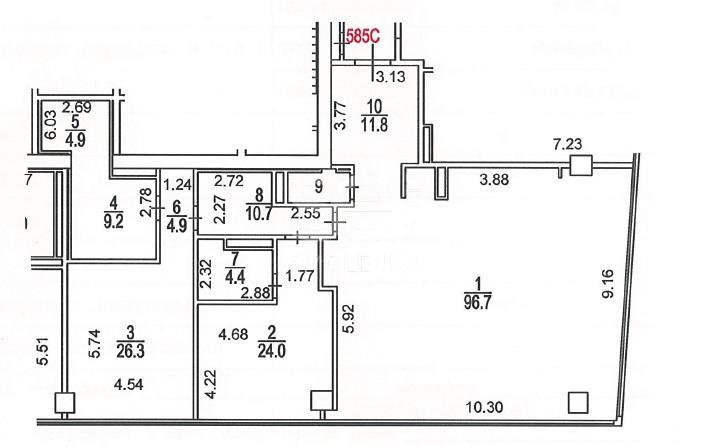 Аренда квартиры, площадь 225.5 кв.м., 58 этаж, ЖК Город Столиц, Пресненская наб, 8с1