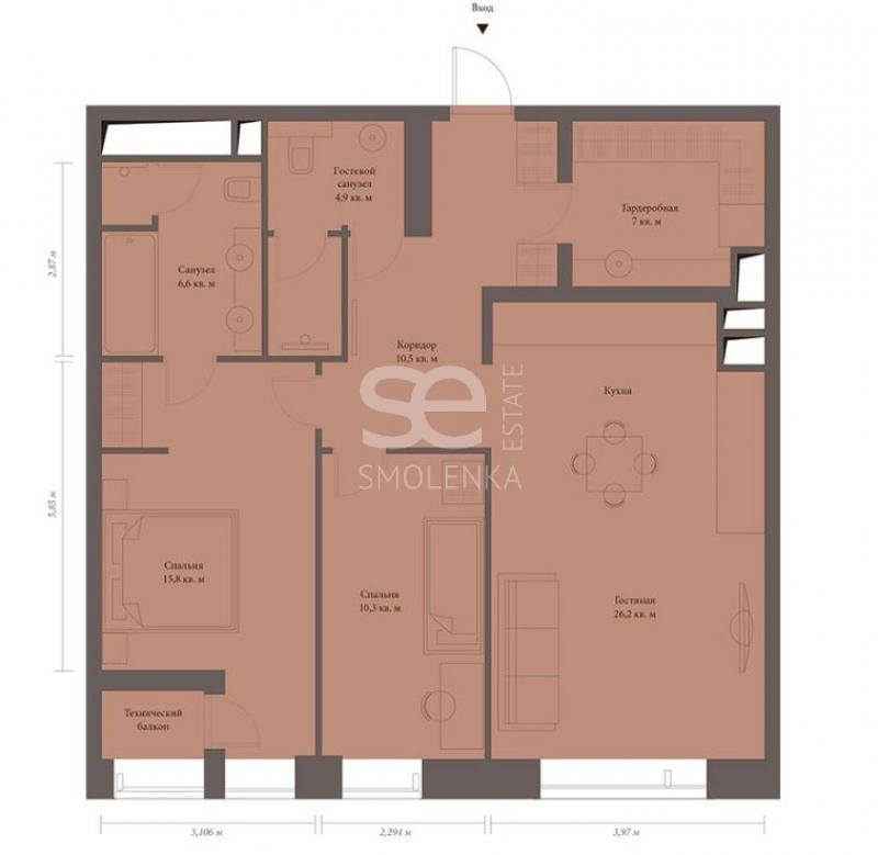 Продажа квартиры, ЖК Резиденция МОНЭ, Звенигородская 2-я ул, 13 с.4
