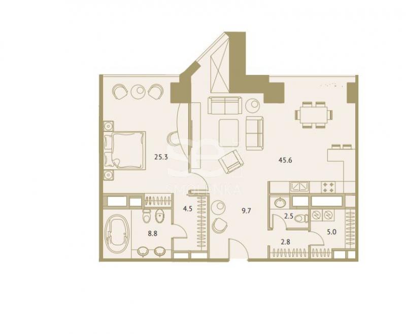 Продажа апартаментов, ЖК Меркурий Сити, Красногвардейский 1-й проезд, 15