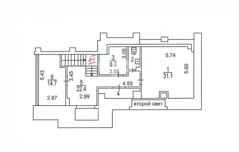 Продажа помещения свободного назначения, Победы пл, 2 к.2