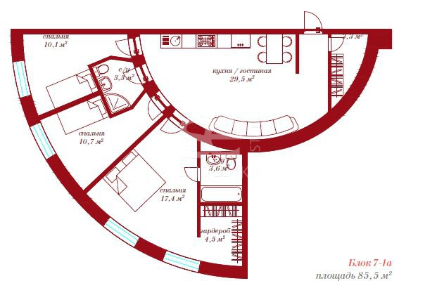 Продажа апартаментов, ЖК RIVERDALE APARTMENTS, Павелецкий 2-й проезд, 5к1