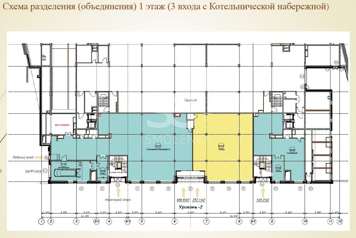 Аренда торговой площади, Котельническая наб, 31