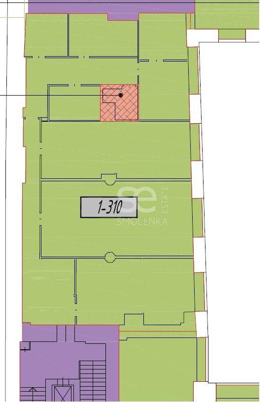 Аренда офиса, площадь 271.69 кв.м., 3 этаж, Краснопролетарская ул, 16стр1, район Тверской