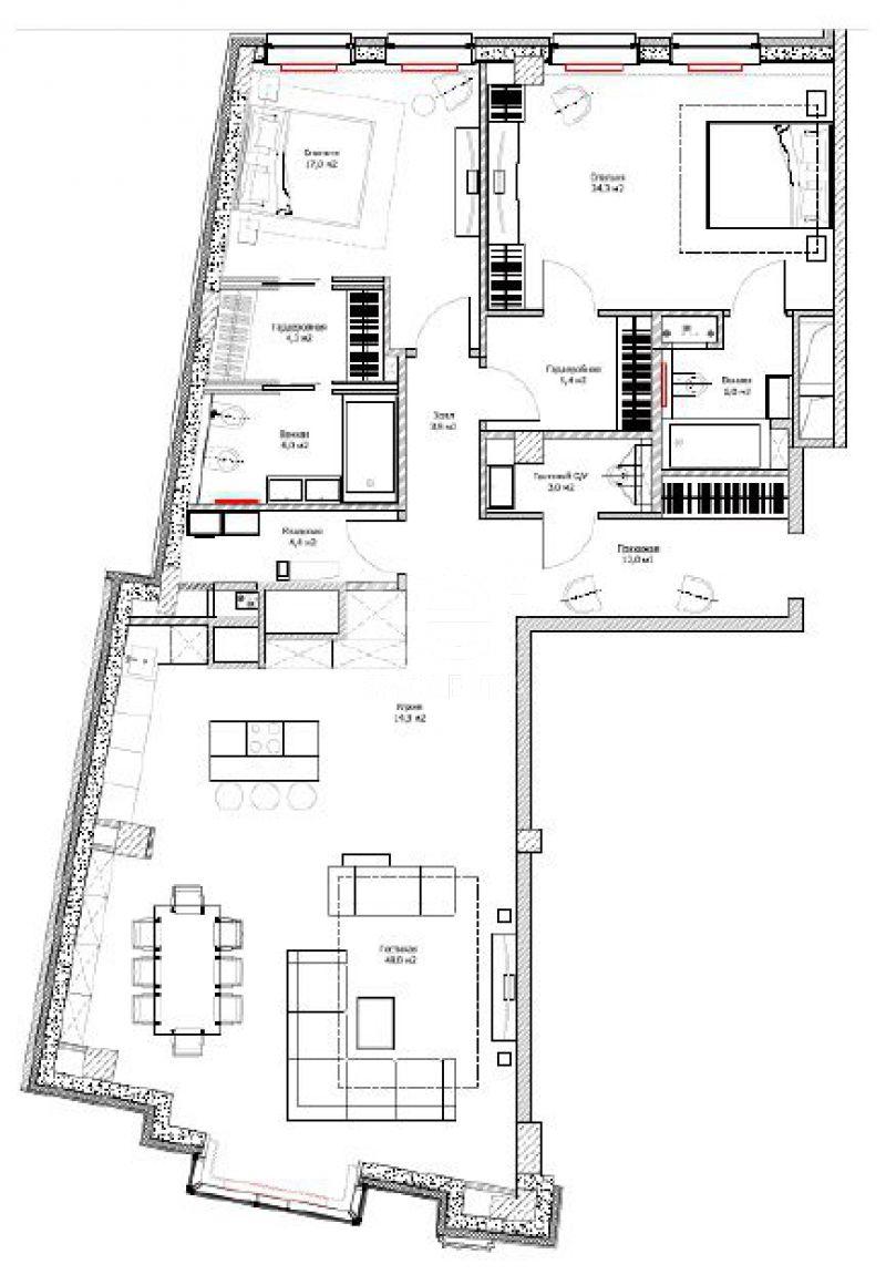 Продажа апартаментов, ЖК У Патриарших, Козихинский М. пер, 11 с.1